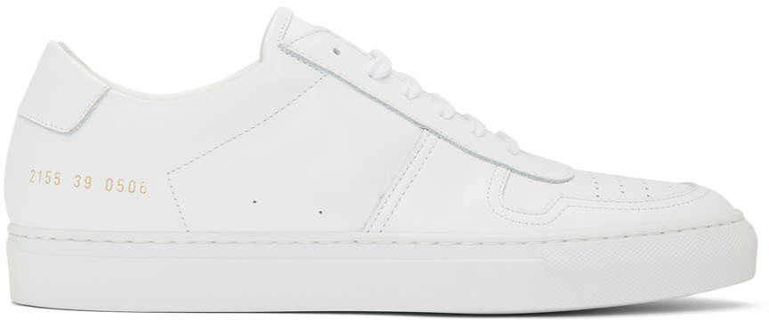 White BBall Low Sneakers