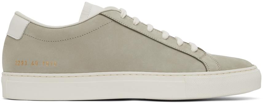 Khaki Nubuck Achilles Low Sneakers