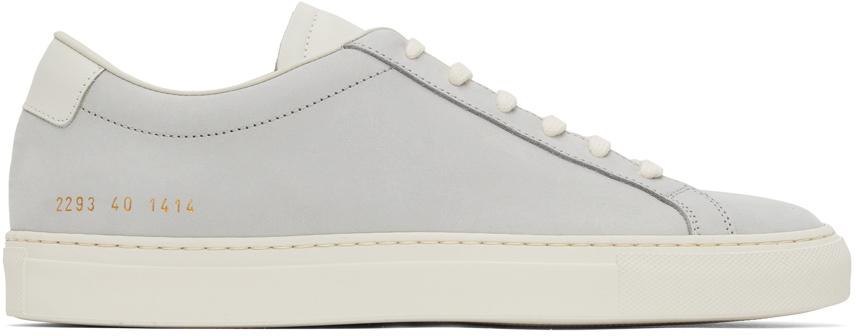 Blue Nubuck Achilles Low Sneakers