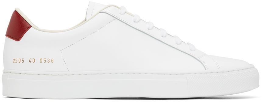 White Retro Low Sneakers