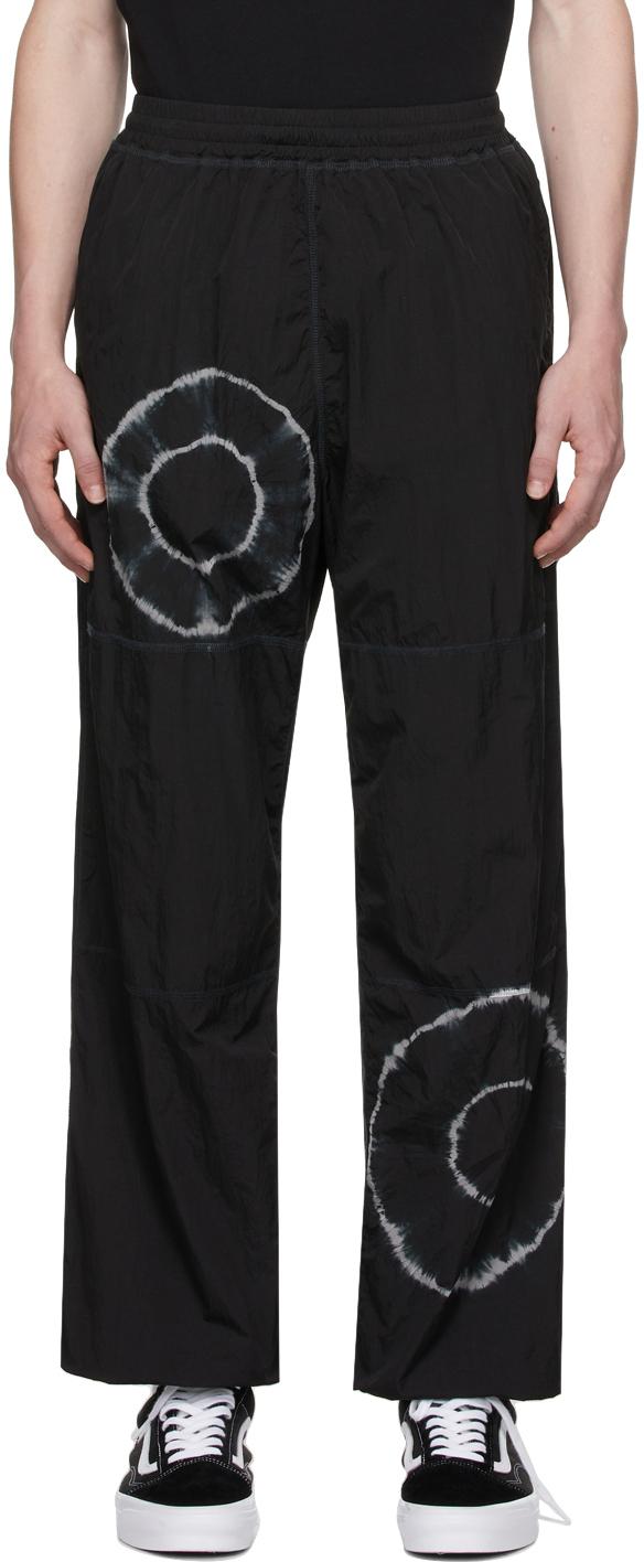 Black Tie-Dye Windcheater Lounge Pants