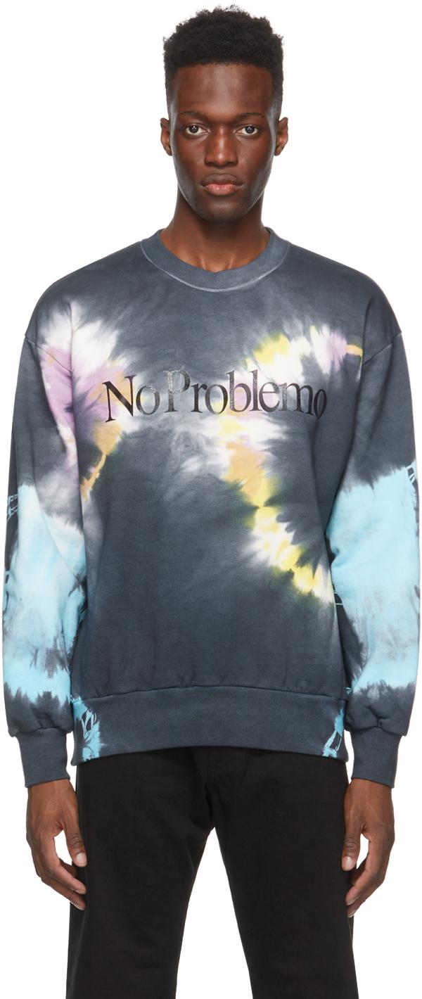 Black & Multitcolor 'No Problemo' Headlights Sweatshirt