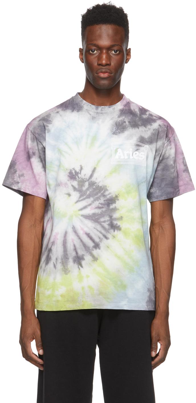 Multicolor Tie-Dye Temple T-Shirt