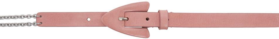 Pink & Silver Fang Belt