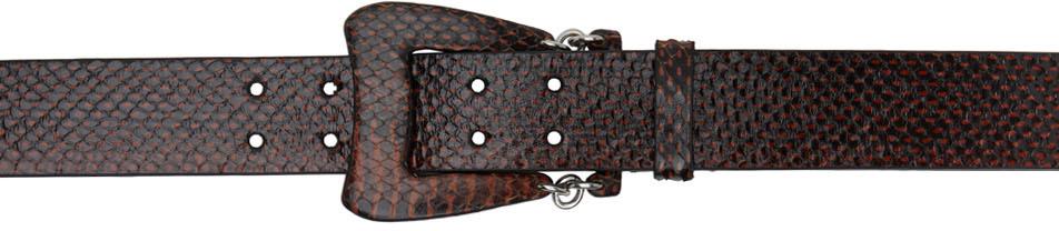 Brown Hydra Woven Belt