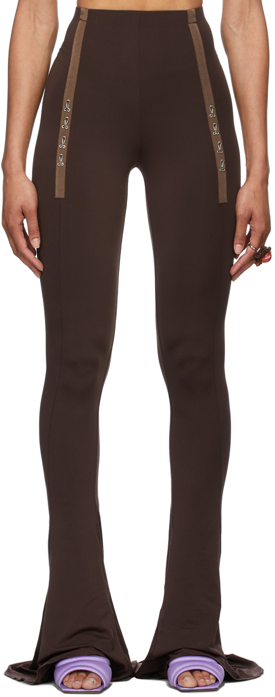 SSENSE Exclusive Brown Ghater Trousers