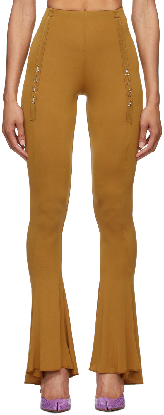 Charlotte Knowles SSENSE Exclusive Tan Ghater Trousers