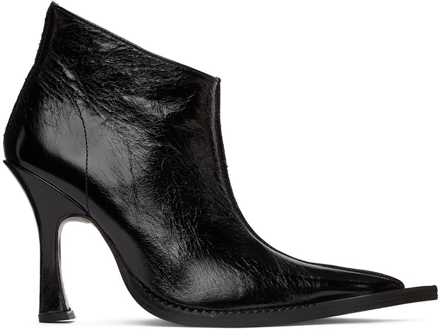Black Serpent Heeled Boots