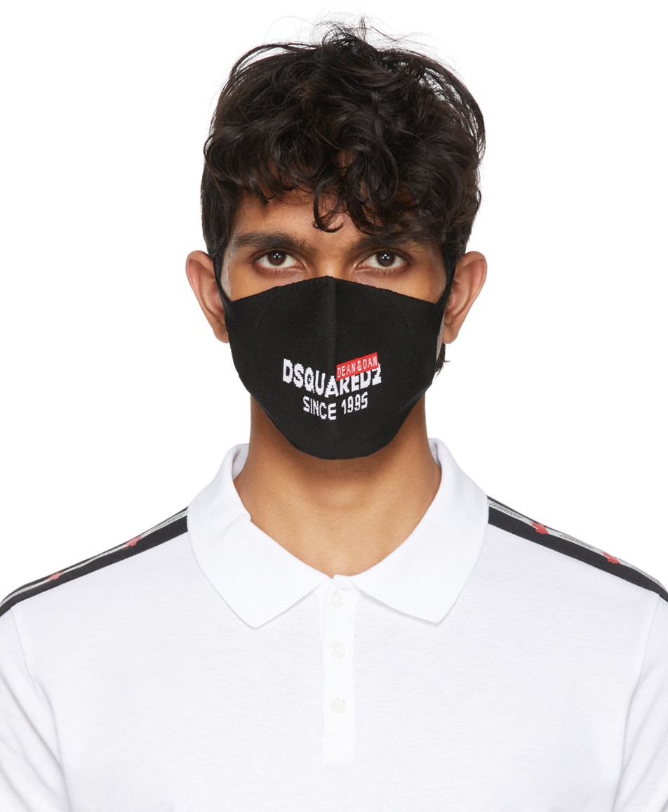 Dsquared2 黑色徽标口罩