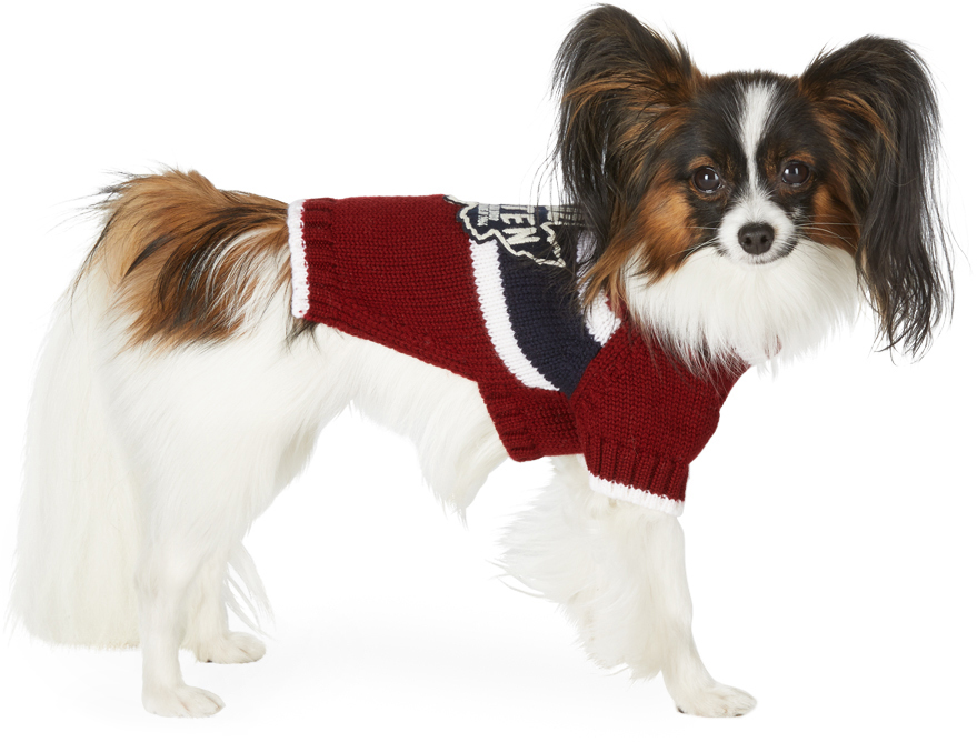 Red Poldo Dog Couture Edition Small Quebec Sweater