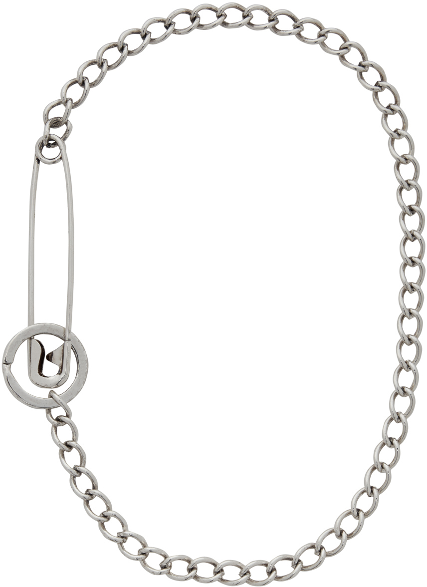 Silver Pin Necklace