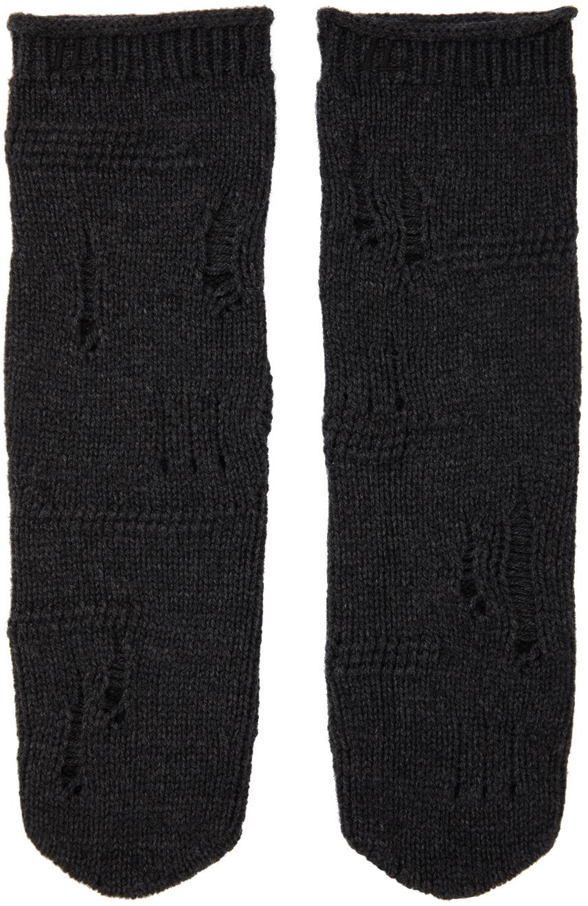 Grey Distressed Socks