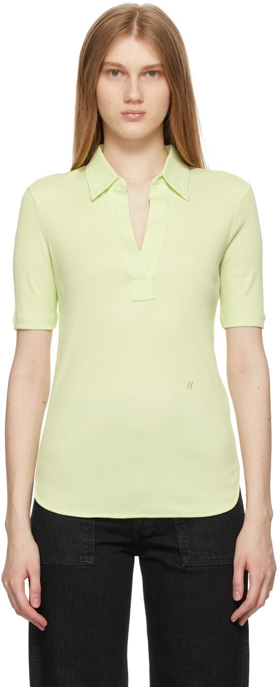 Green Cotton Skinny Polo