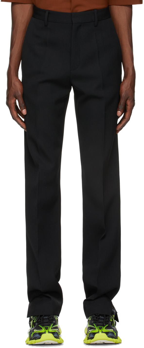 Black Slit Trousers