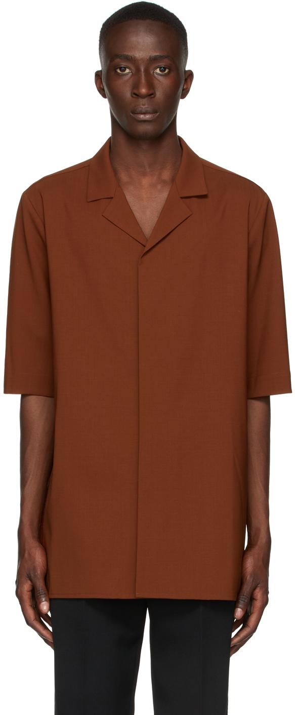 Brown Tropical Short Sleeve Shirt