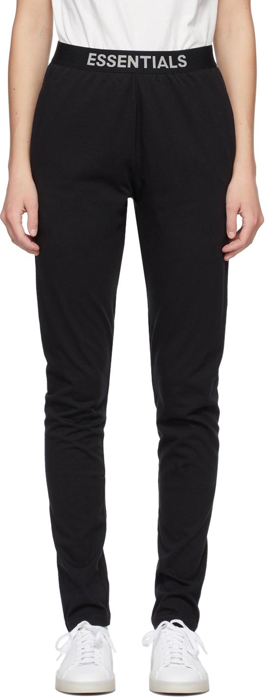 Black Jersey Lounge Pants