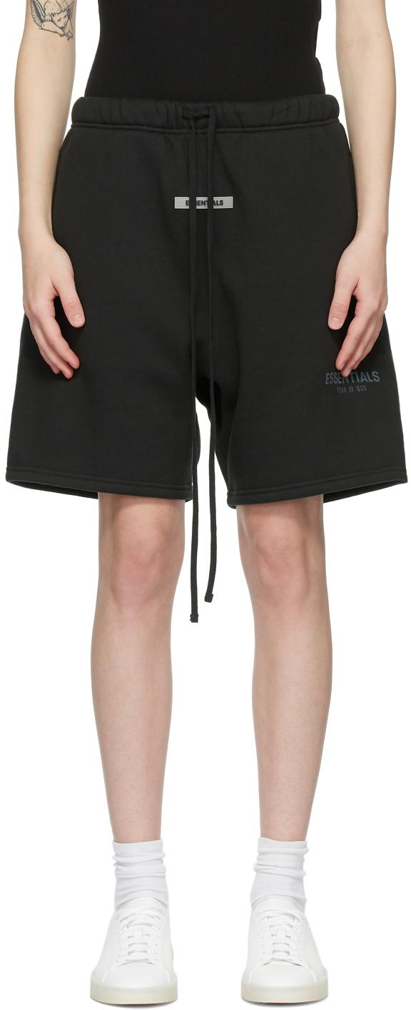 Fear Of God Essentials Sweat Shorts **BLACK** Size Medium