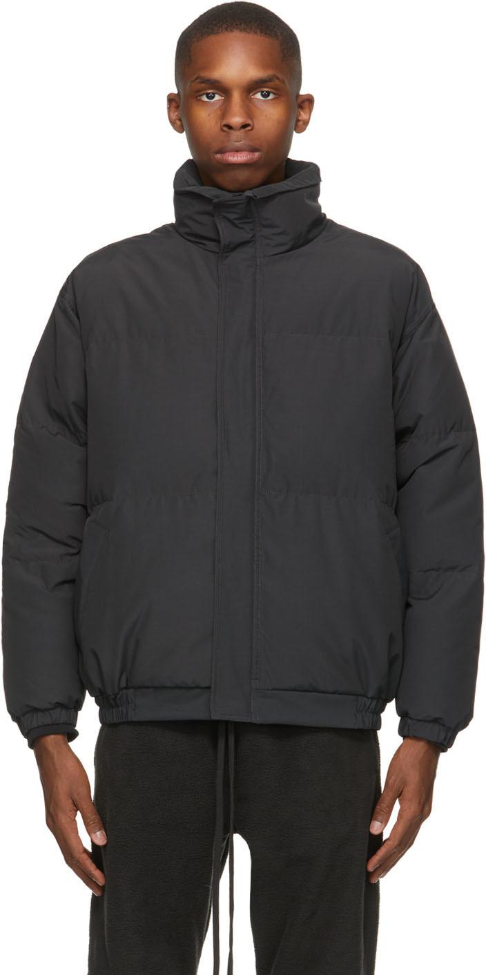 Black Nylon Puffer Jacket
