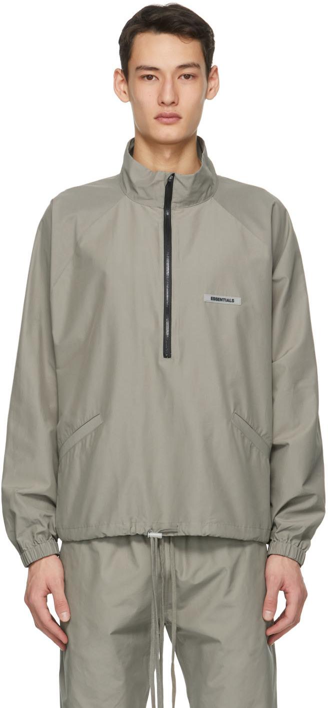 Khaki Half-Zip Track Jacket