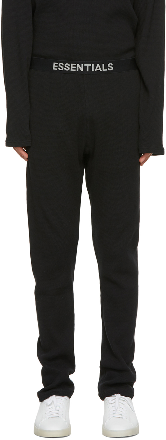 Black Thermal Lounge Pants