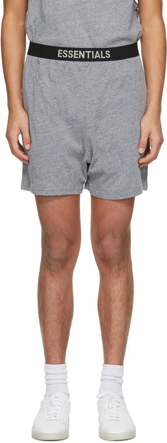 Grey Jersey Lounge Shorts