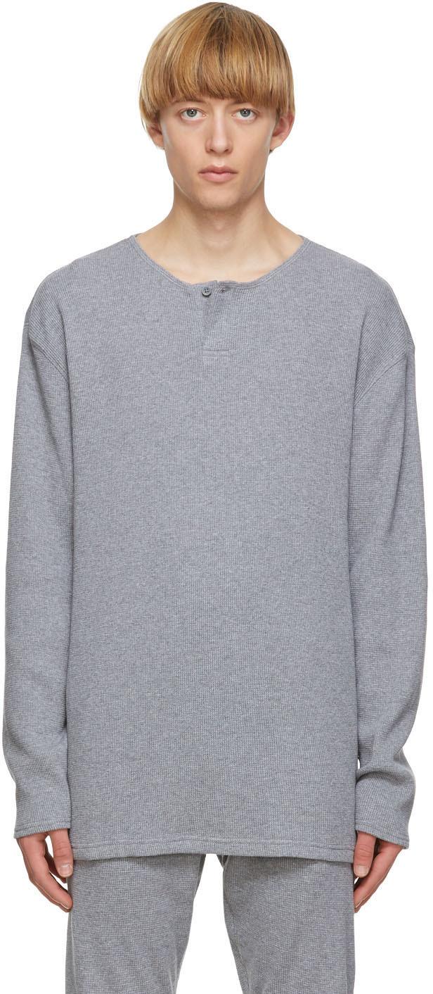 Grey Thermal Henley