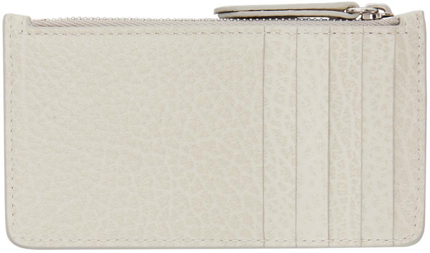 Off-White Long Zip Card Holder