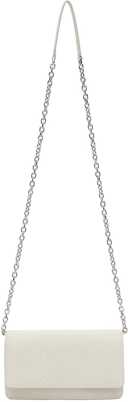 Grey Chain Wallet Bag