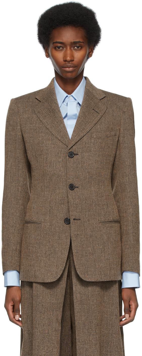 Maison Margiela 棕色大廓形西装外套