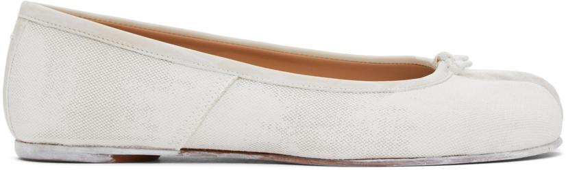 Maison Margiela 白色 Tabi 涂绘芭蕾鞋