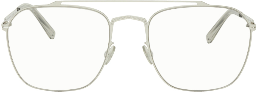 Maison Margiela 银色 MYKITA 联名 MMCRAFT006 眼镜