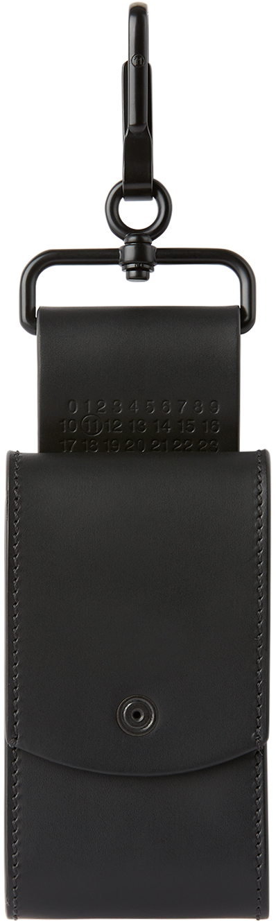 Black Calfskin Phone Pouch
