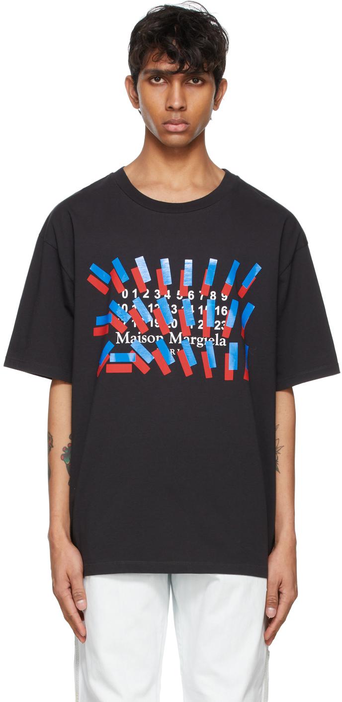 Black Tape Print T-Shirt