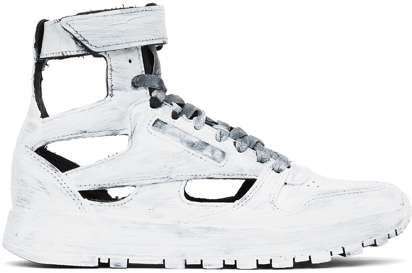 White Reebok Edition Hand-Painted Tabi High-Top Sneakers
