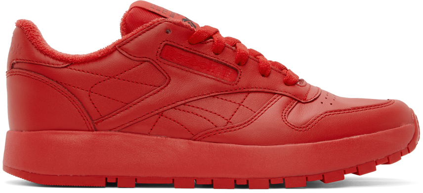 Red Reebok Edition Classic Leather Tabi Sneakers