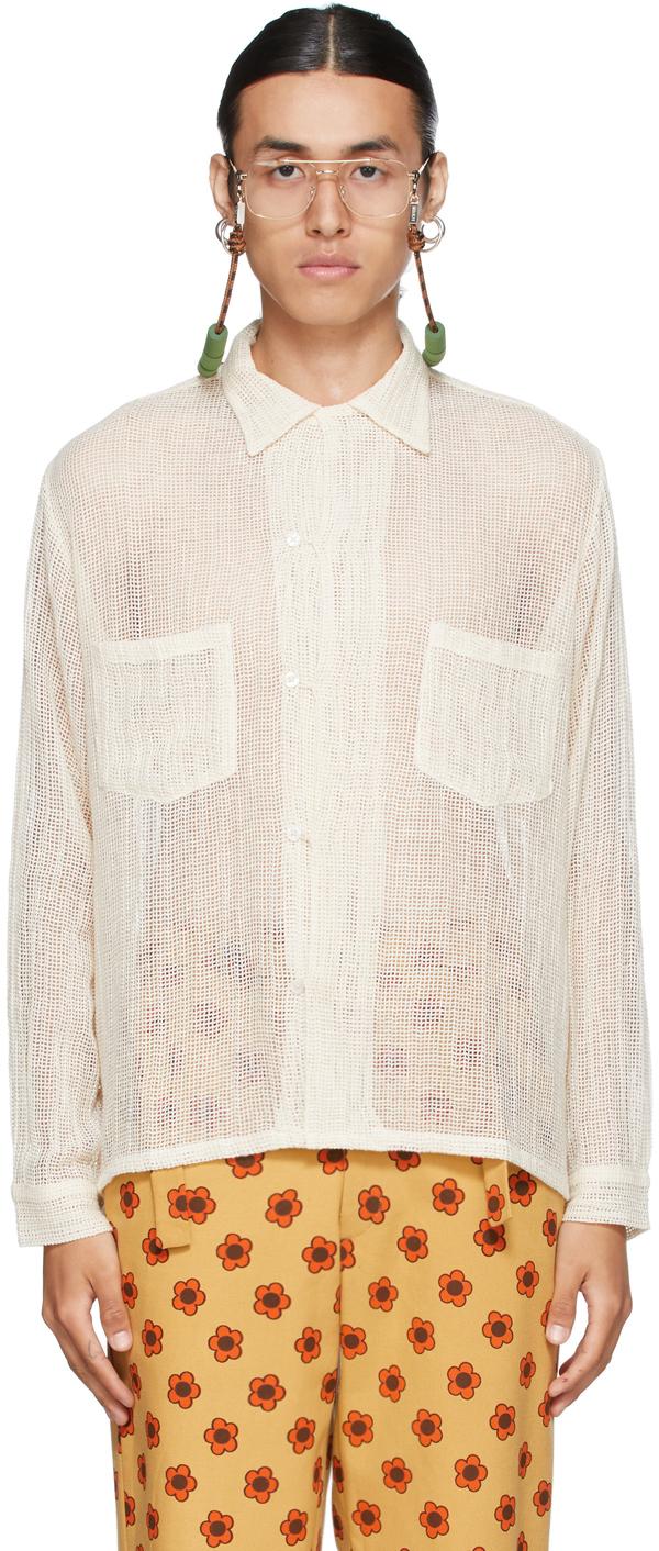 Off-White Cotton Net Shirt