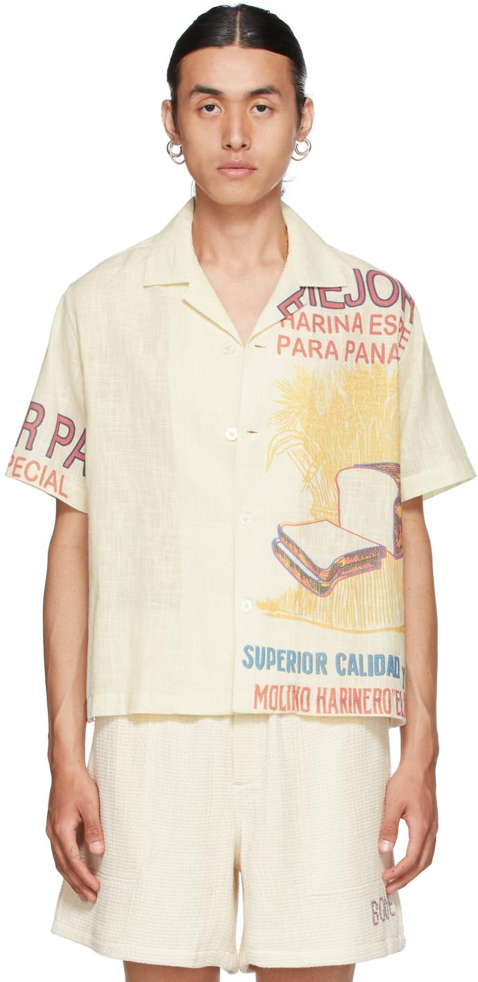 Off-White Bread Feedsack Short Sleeve Shirt
