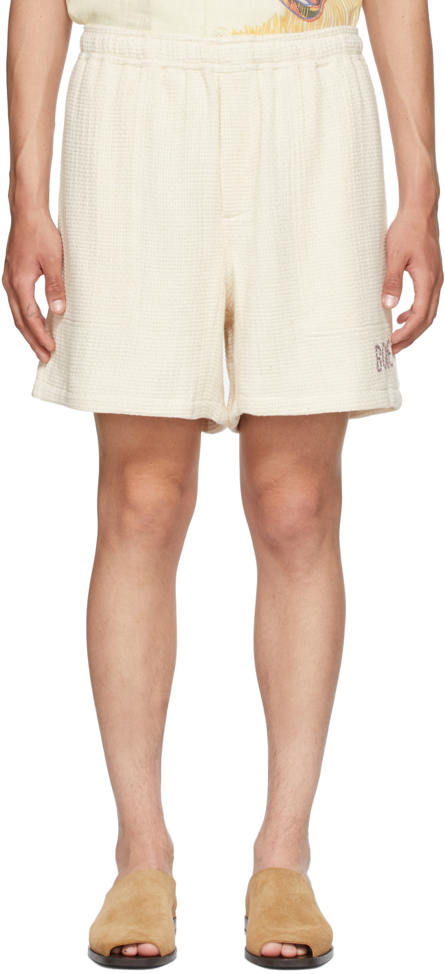 Off-White Basket Weave Rugby Shorts