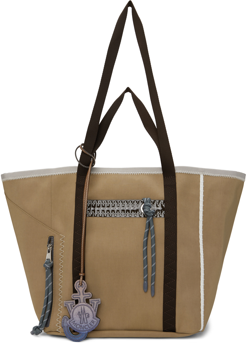 1 Moncler JW Anderson Beige Waxed Nylon Tote