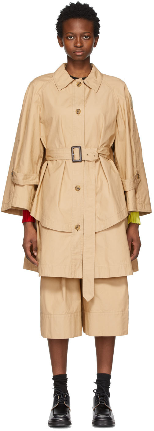 Moncler Genius 驼色 1 Moncler JW Anderson 系列 Military A-Line Dungeness 风衣