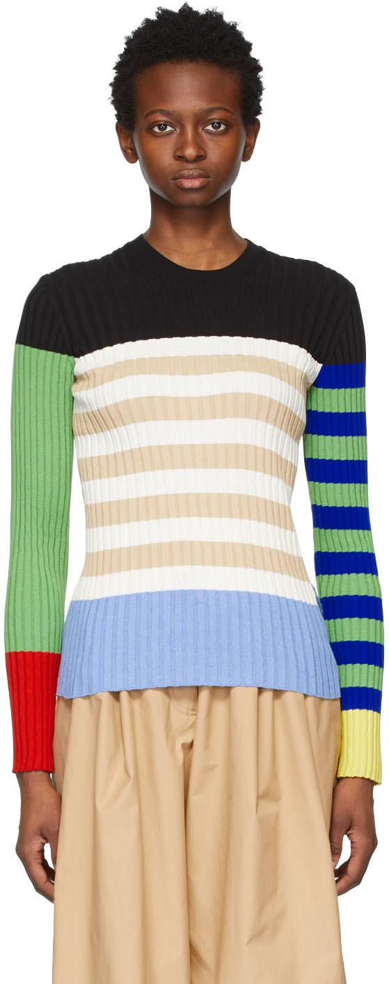 1 Moncler JW Anderson Multicolor Colorblock Logo Sweater