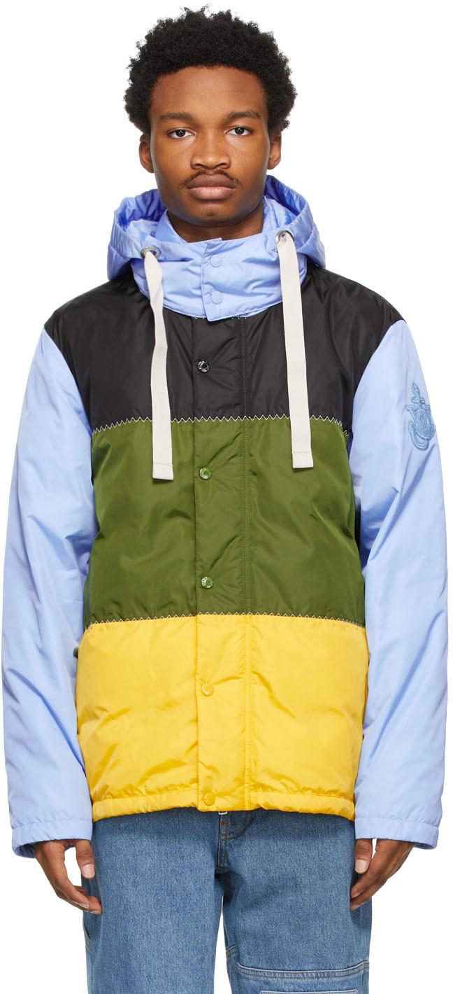 1 Moncler JW Anderson Blue Down Borealis Jacket