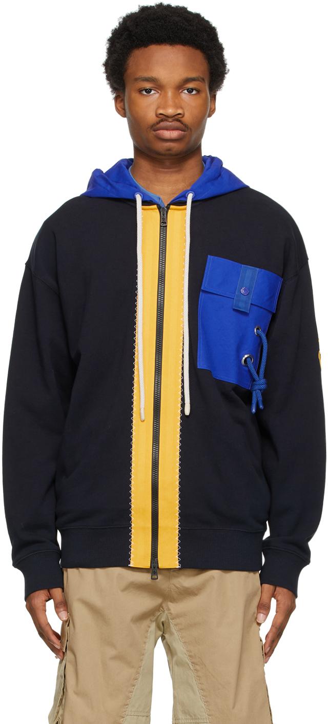 1 Moncler JW Anderson Navy Zip-Up Jacket