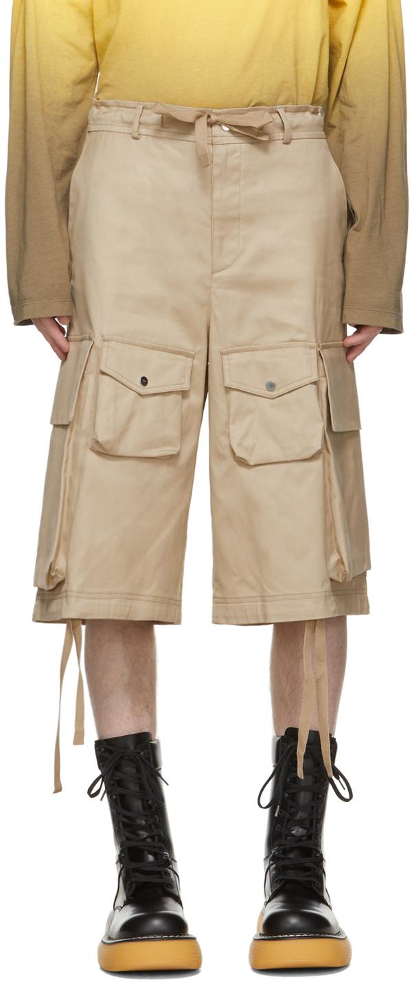 2 Moncler 1952 Beige Bermuda Shorts