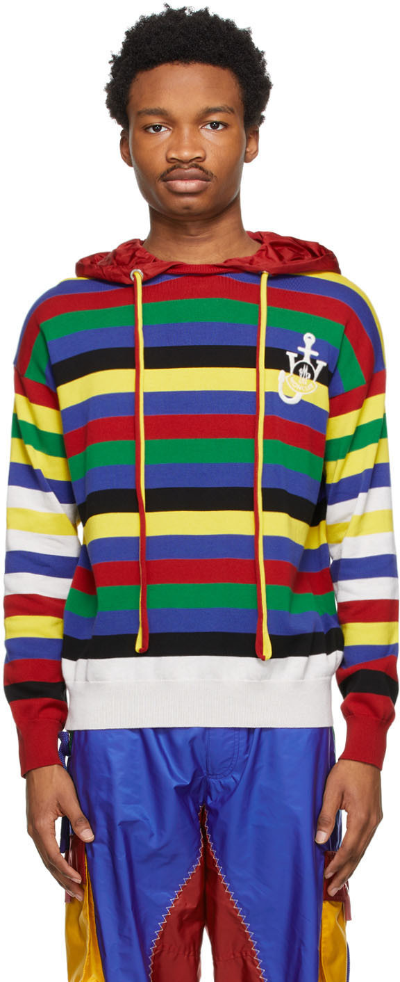 1 Moncler JW Anderson Multicolor Tricot Hoodie