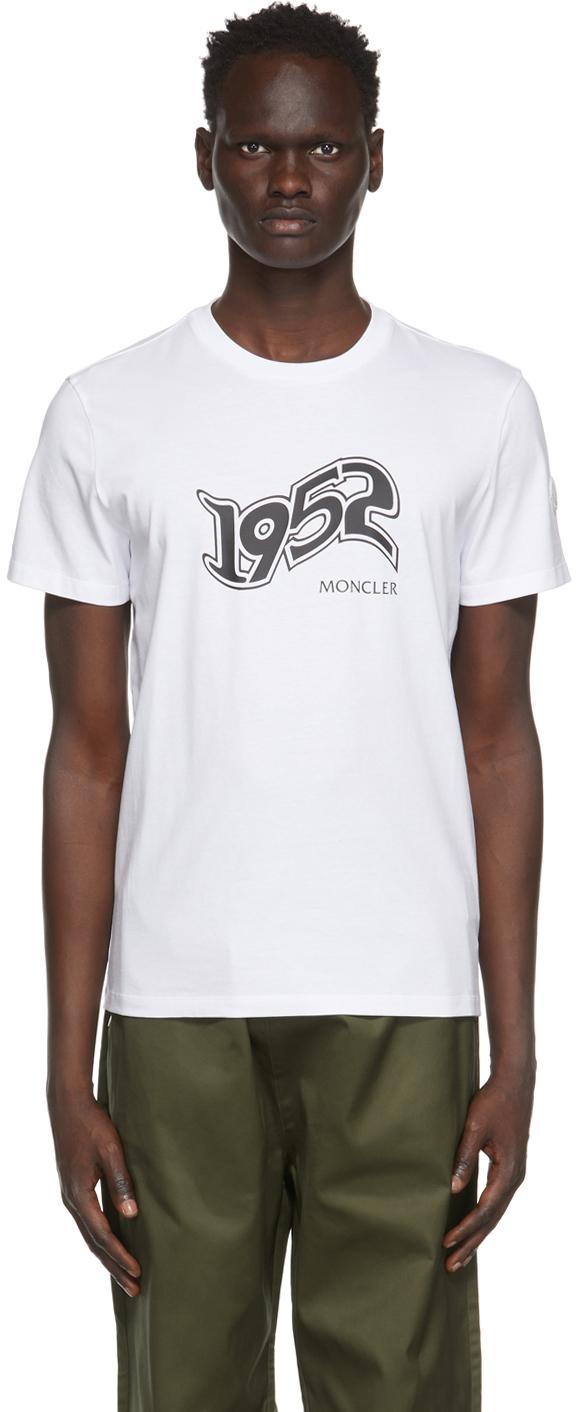 2 Moncler 1952 White Logo T-Shirt