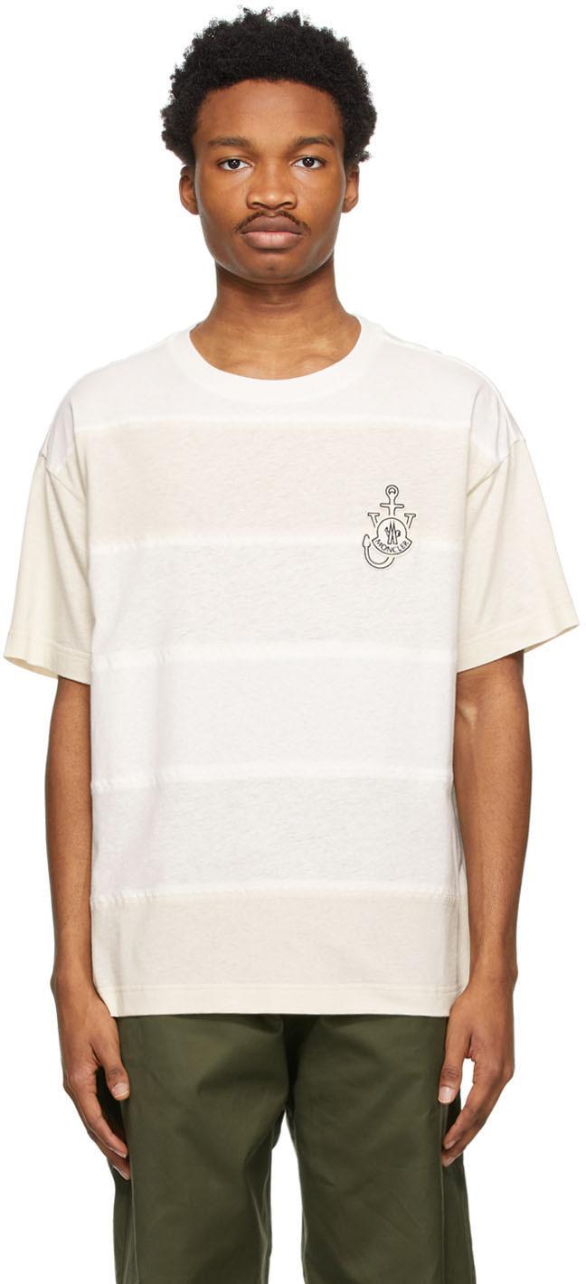 1 Moncler JW Anderson White Hemp T-Shirt