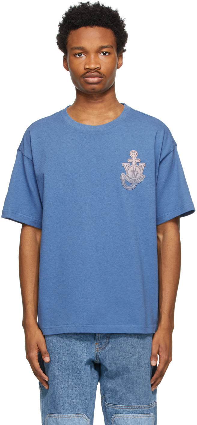 1 Moncler JW Anderson Blue Gradient Logo T-Shirt