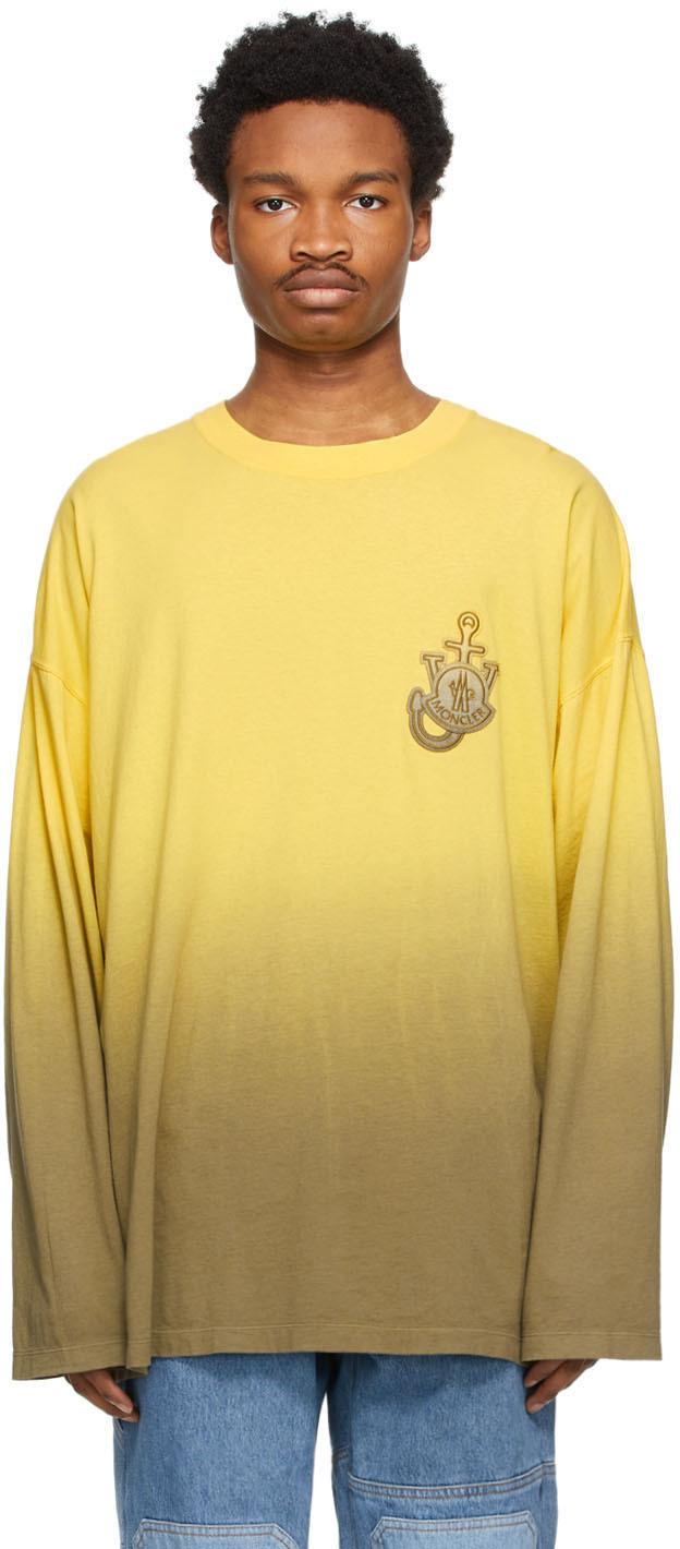 1 Moncler JW Anderson Yellow Tie-Dye Long Sleeve T-Shirt