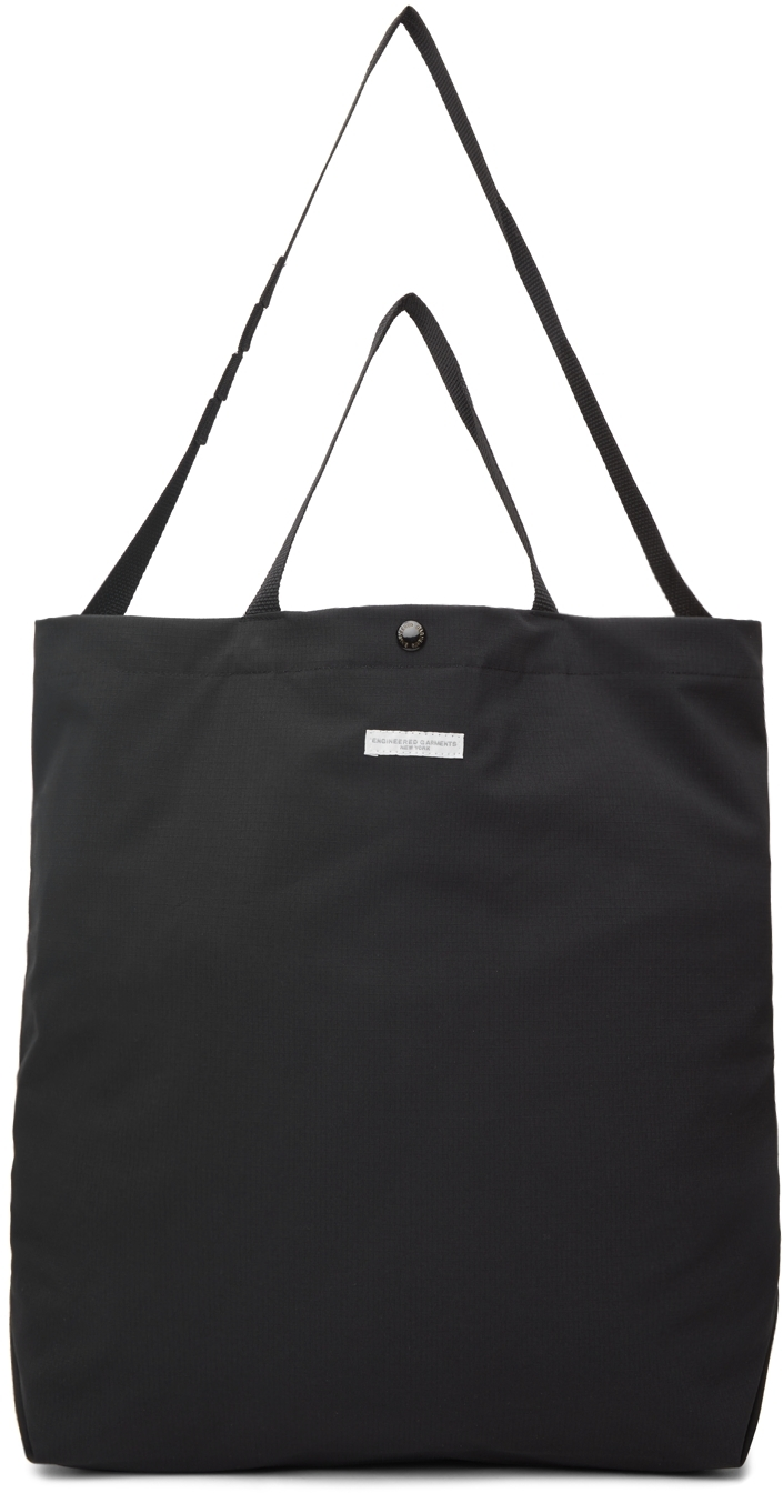 Black Cotton Carry-All Tote